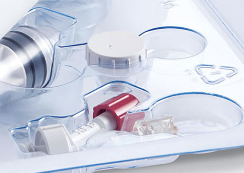 medical tray with medical supplies